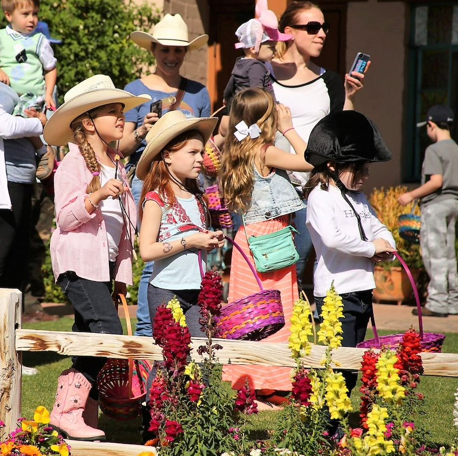 Easter Kids at our Dude Ranch