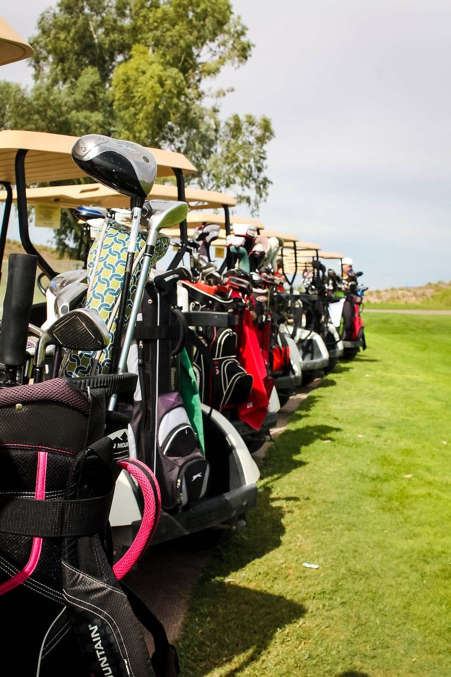 golf carts at Los Caballeros Golf Course