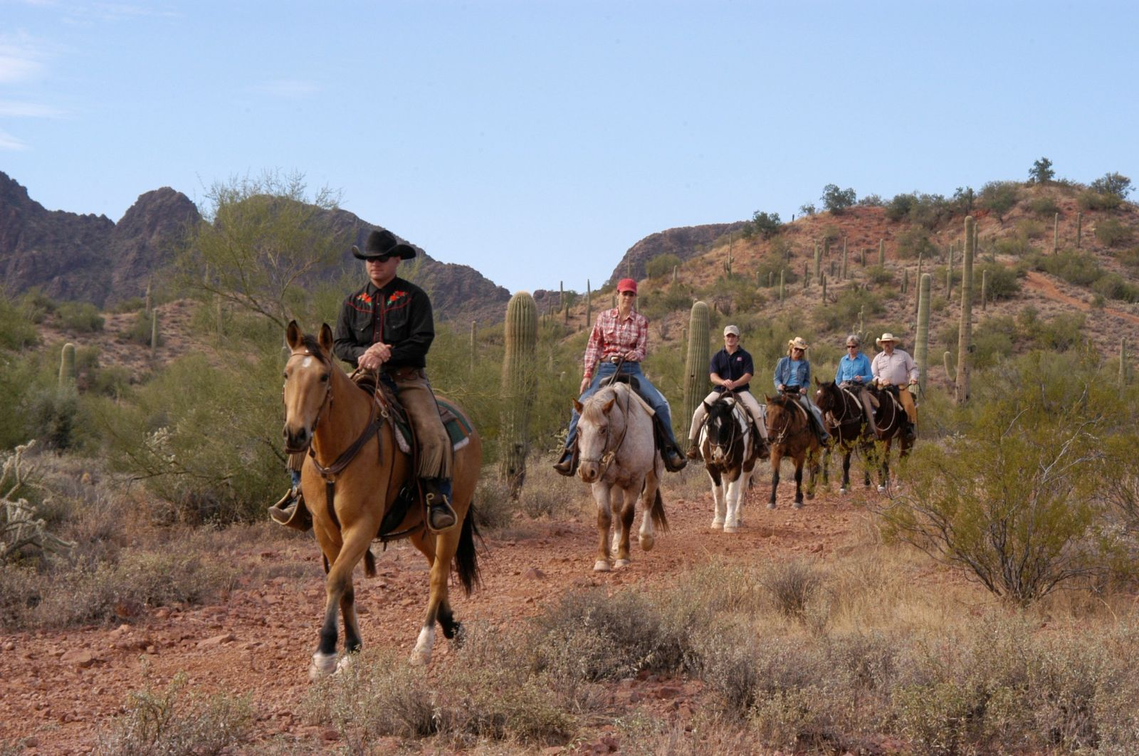 All-Day horseback trail ride at Rancho de los Caballeros