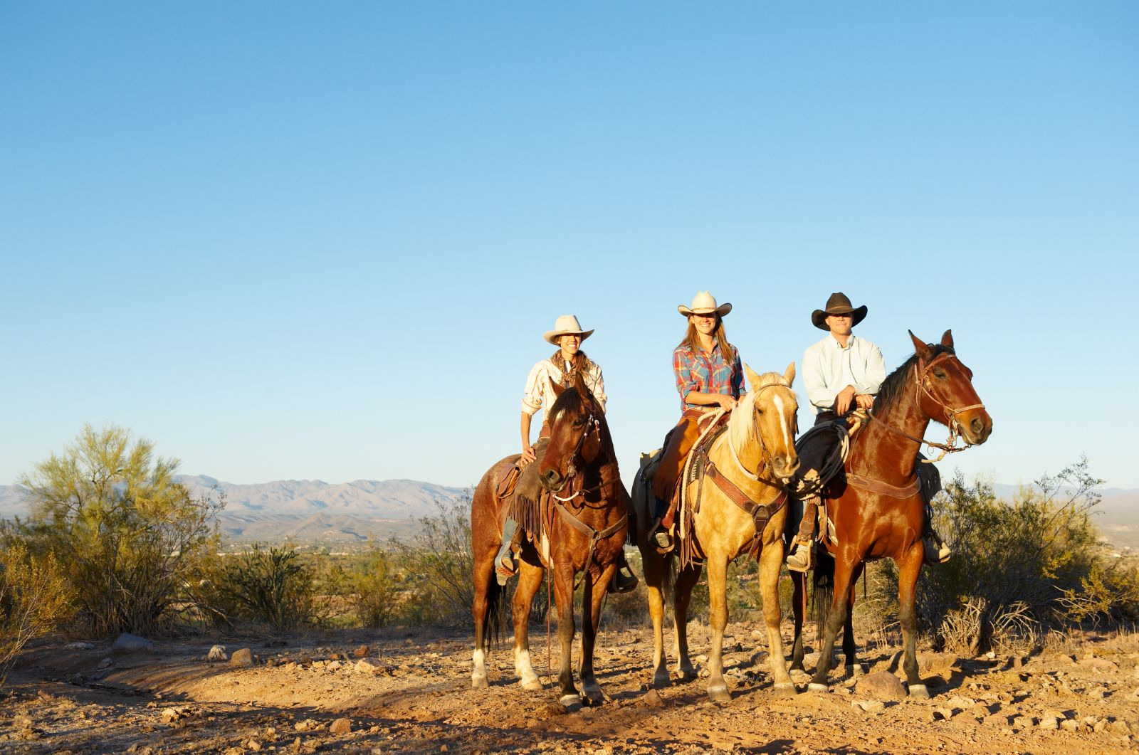 Sunset horseback ride at Rancho de los Caballeros