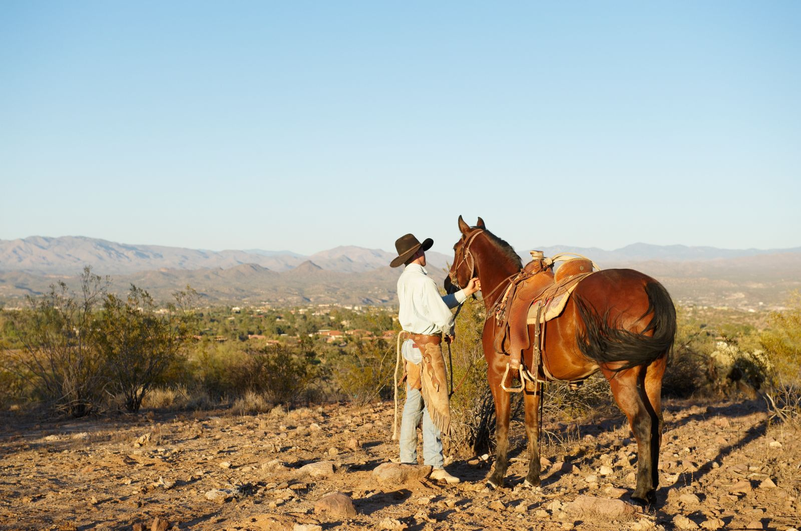 Wrangler at Horsemanship Class at Rancho de los Caballeros