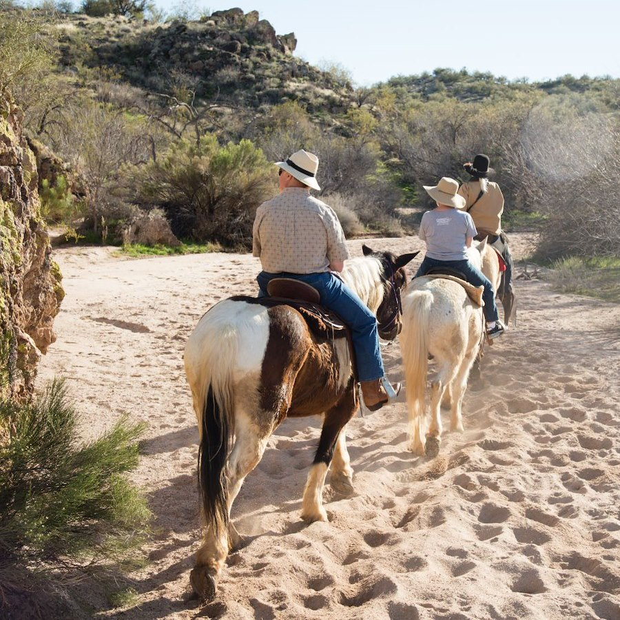 Nature Horseback Ride at Rancho de los Caballeros in Wickenburg, AZ